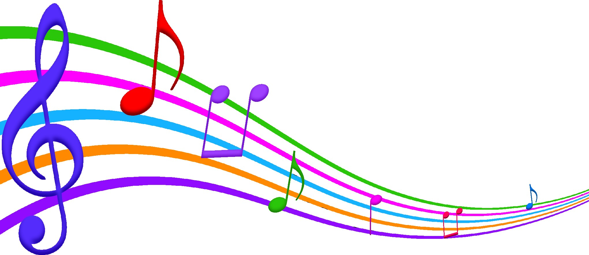 2040x884 Music Notes Clip Art Png Music And Note Cool Clipart Musical
