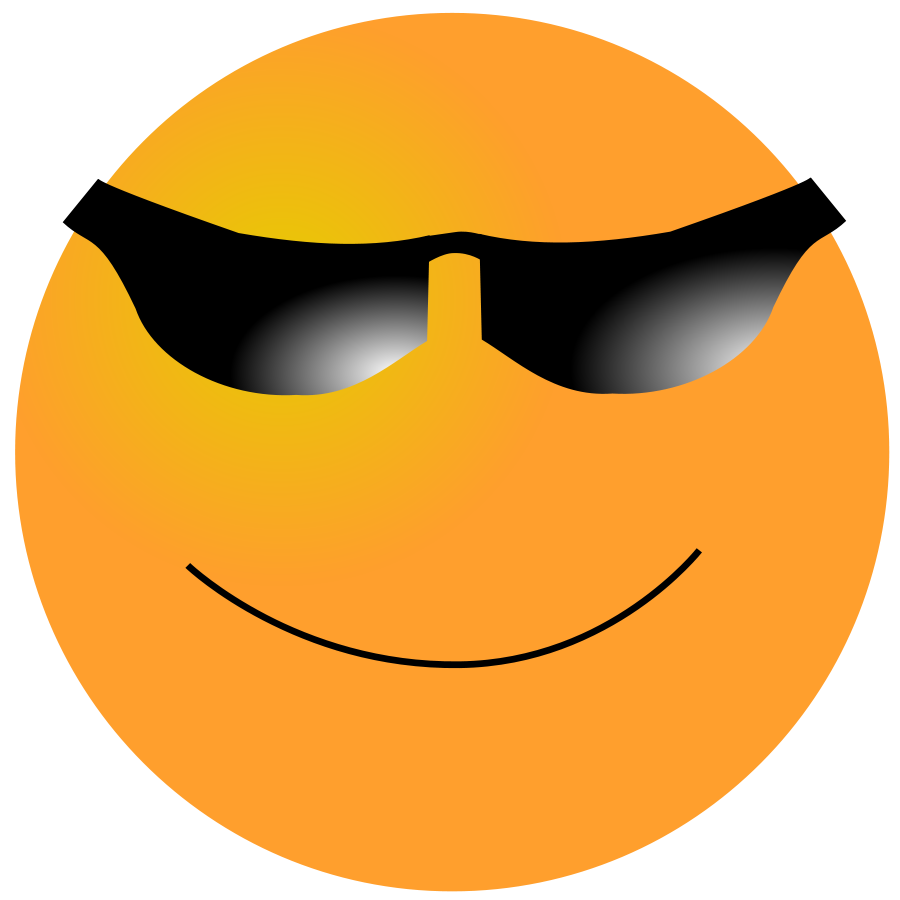 900x900 Smiley Cool Clipart Image Clipart Panda