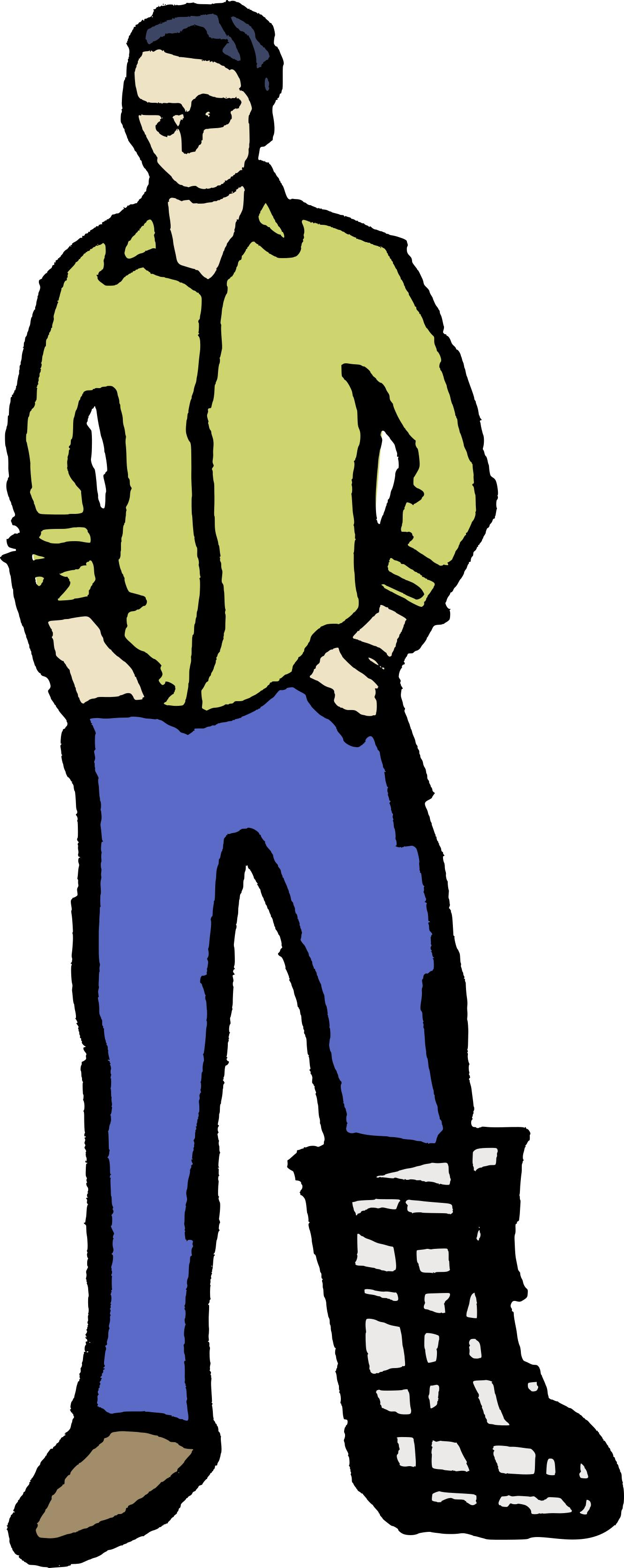1331x3341 Cool Man In A Cast Clipart
