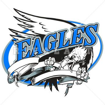 361x361 Mascot Clipart Image Of A Cool Eagles Design In Color Eagle Clip