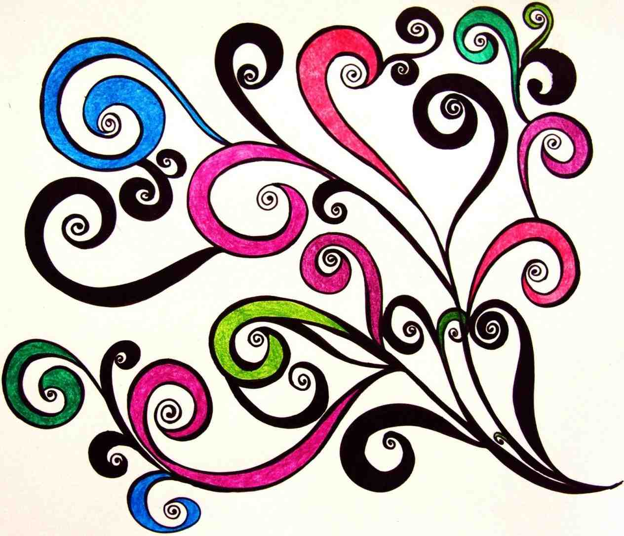 1264x1085 Swirl Cool Swirly Designs Patterns Clip Art Library