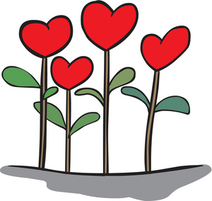 300x284 Heart Flowers Clipart Image
