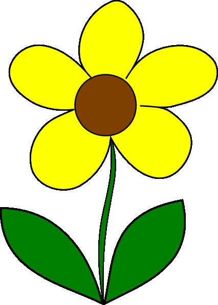 426x595 Small Flower Clipart Yellow Flower Clip Art At Clker Vector Clip