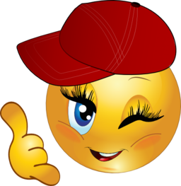 256x263 Cool Girl Call Me Smiley Emoticon Clipart I2clipart