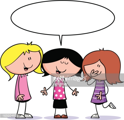 420x408 Group Of Girls Talking Clipart