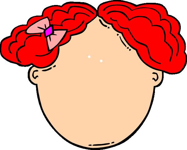 600x482 Red Hair Girl Blank Face Clip Art