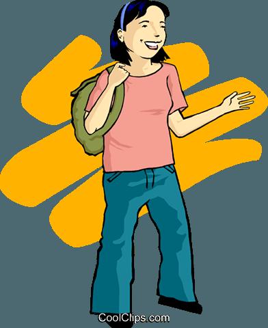 392x480 Teenage Girl Royalty Free Vector Clip Art Illustration Peop3608