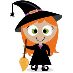 236x236 Halloween Clipart, Cute Halloween Baby Digital Clipart, Kawaii