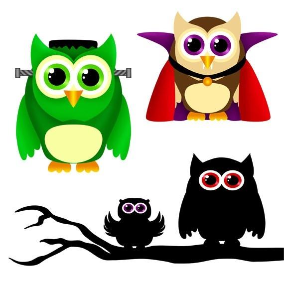 570x570 Cute Halloween Owl Clip Art