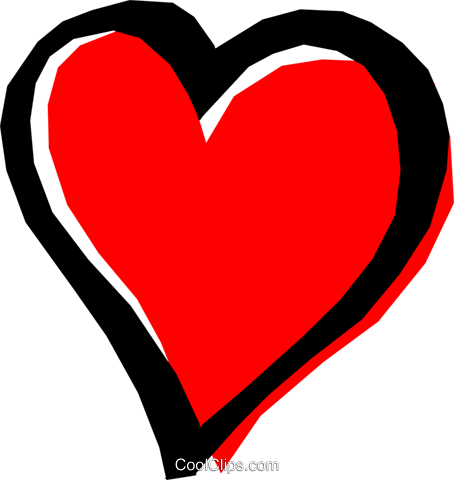 454x480 Cool Heart Royalty Free Vector Clip Art Illustration Even0013