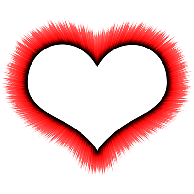 400x400 Heart Outline Thin Black Transparent Png
