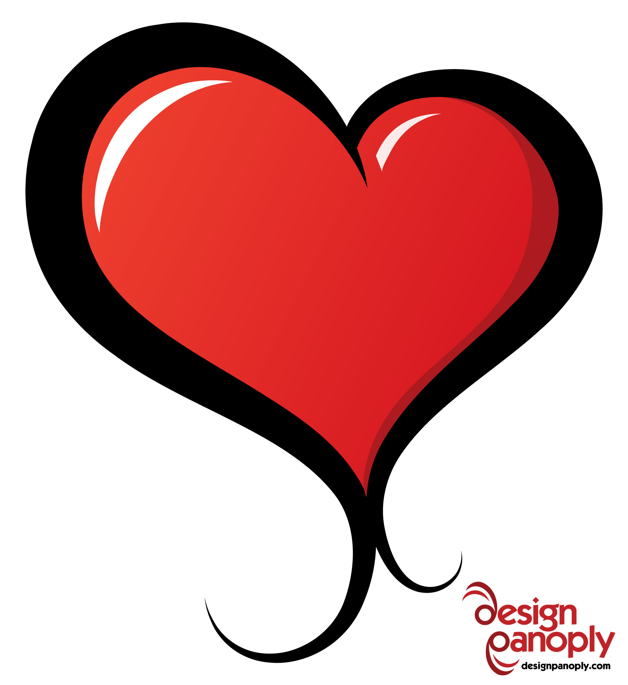 2000x2182 Illustrated Vector Heart Free Vector 4vector