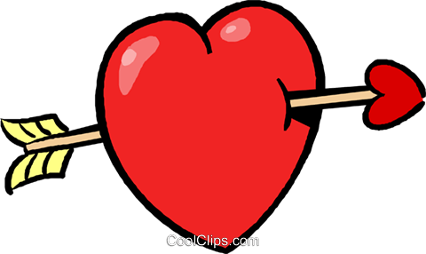 480x286 Valentines Day Heart And Arrow Royalty Free Vector Clip Art