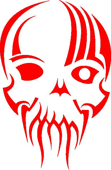 390x594 Red Skull Clip Art