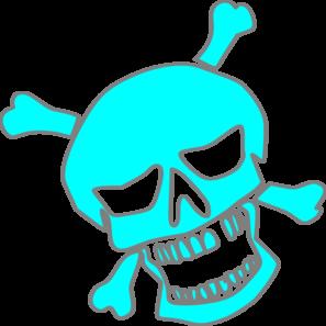 297x297 Skull 2 Tone Clip Art