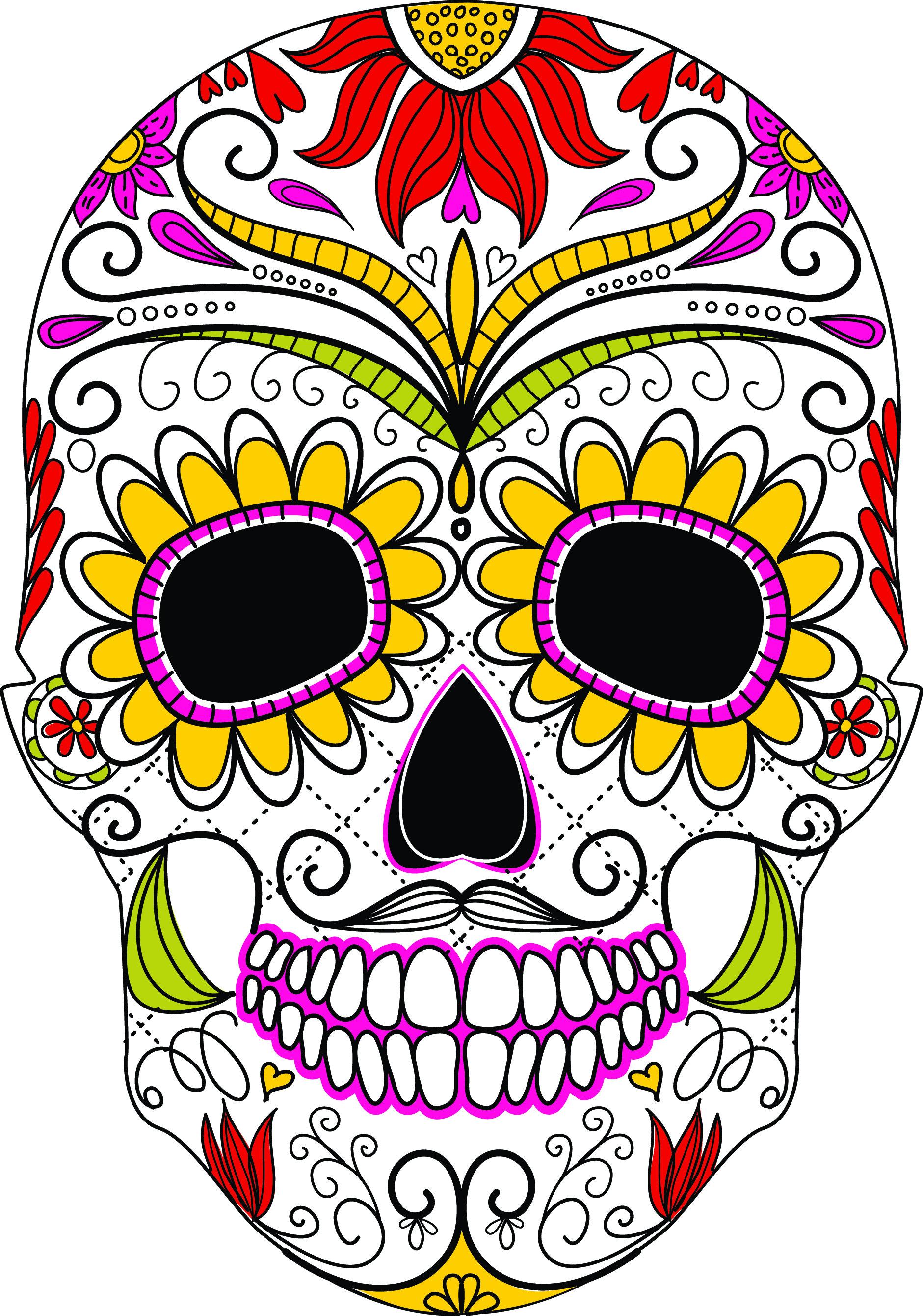 1881x2679 Sugar Skull Svg