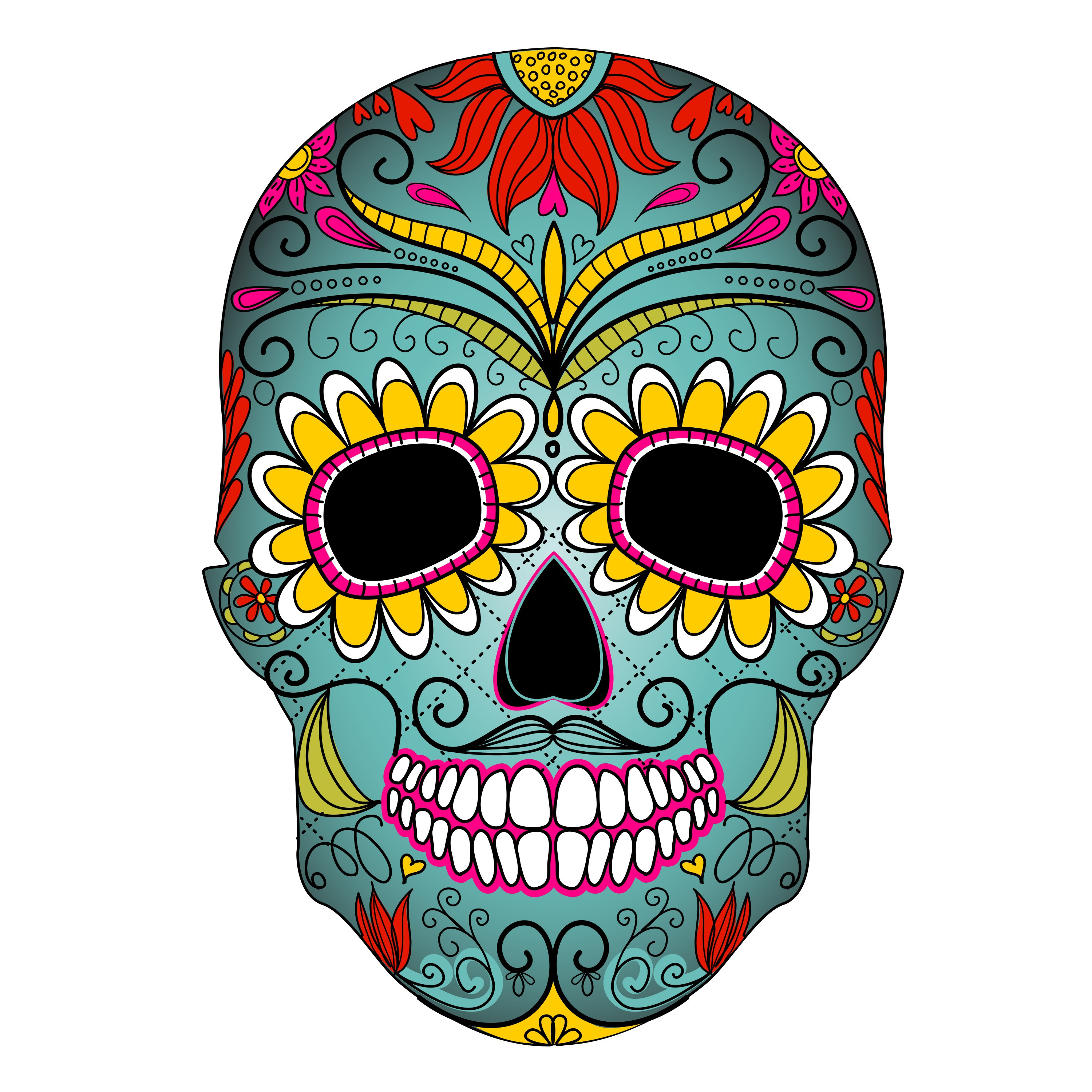 3000x3000 Skull Clip Art Black And White Images Download