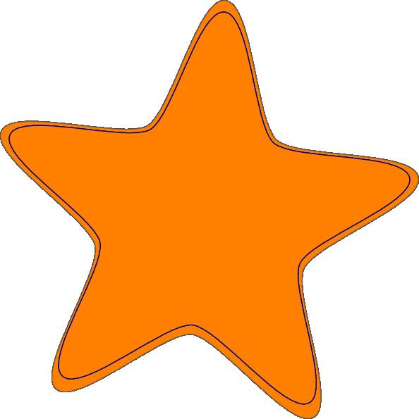 594x595 Orange Star Clipart