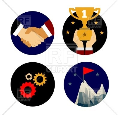 400x382 Partnership And Cooperation Business Icons Royalty Free Vector