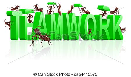 450x265 Teamwork Collaboration Or Cooperation. Teamwork Ants Stock