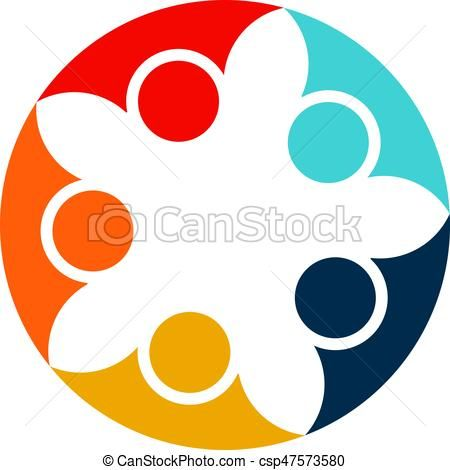 450x470 Vector Of Abstract People Cooperation.