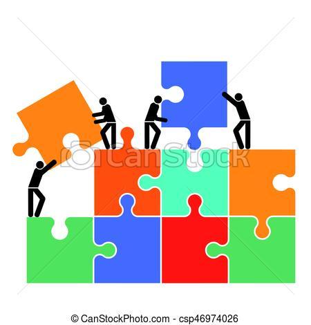 450x470 Zusammenarbeit.eps. Cooperation In The Group Icon Vector
