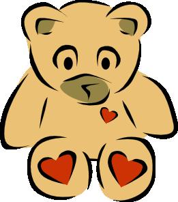 261x296 Stylized Teddy Bear With Hearts Clip Art