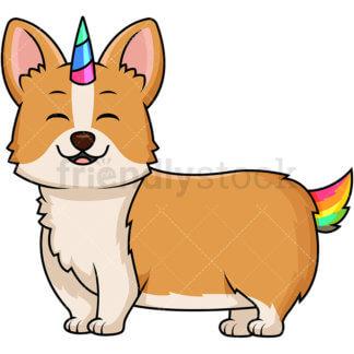324x324 Pug Dog Unicorn Pugicorn Cartoon Vector Clipart