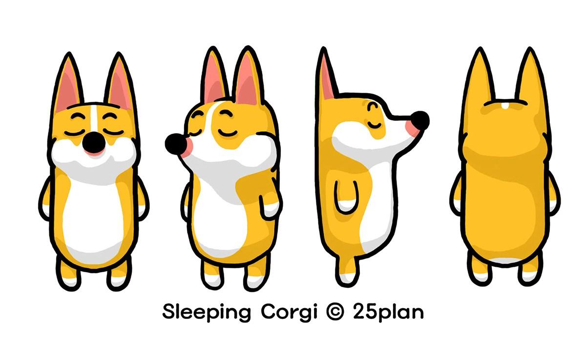 1200x691 Sleeping Corgi By Kim Sung Jae