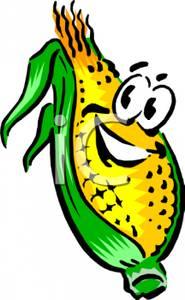 185x300 Clip Art Image A Smiling Ear Of Corn