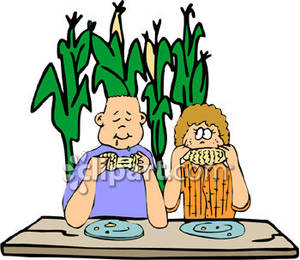 300x260 Eating Corn On The Cob Clipart