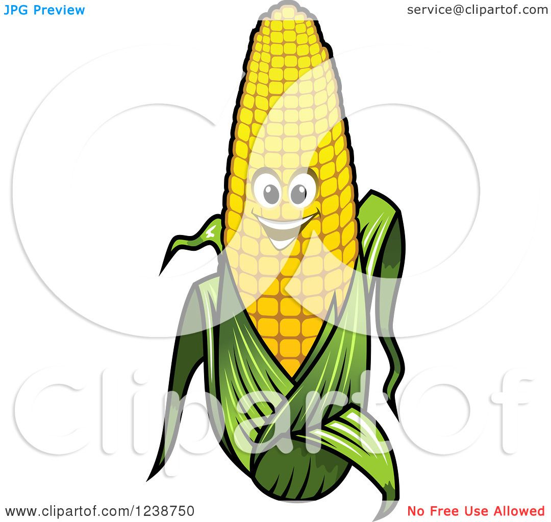 1080x1024 Clipart Of A Happy Corn On The Cob