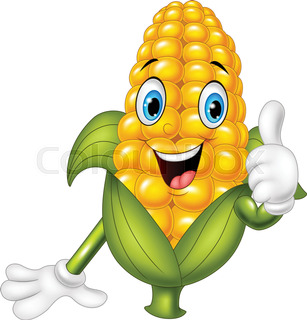 307x320 Corn Cartoon Stock Vector Colourbox