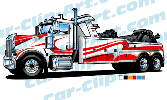 576x346 Big Rig Tow Truck Vector Clip Art Need It I Have It! Hot Rod