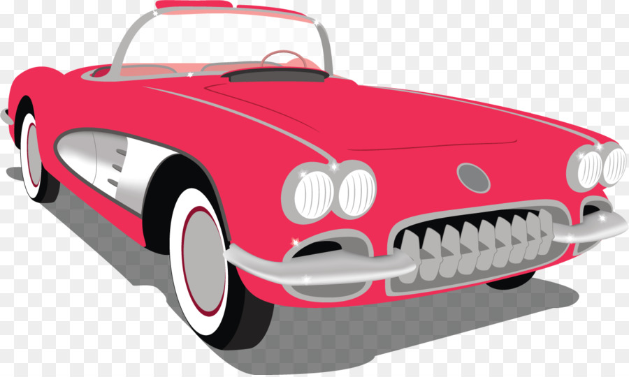 900x540 Red Corvette Clipart