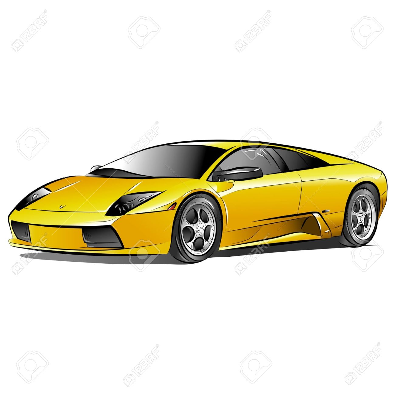 1300x1300 Yellow Car Clip Art 101 Clip Art
