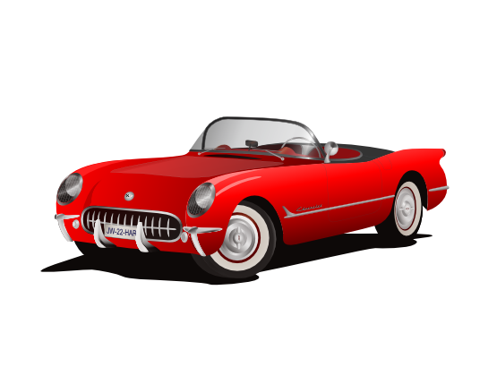555x429 Clip Art Corvette Red Svg