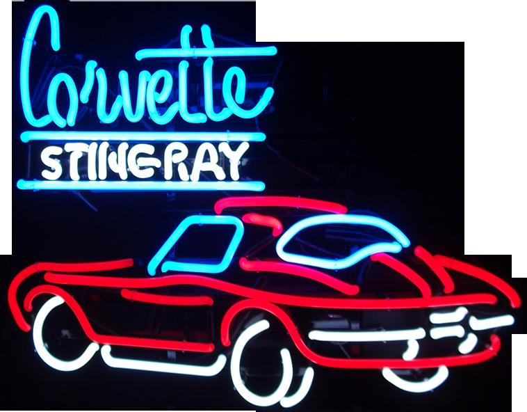 758x592 Automotive Neon Signs Corvette Stingray Neon Sign