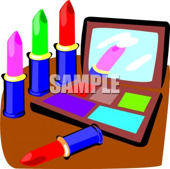 350x347 Royalty Free Clipart Image Cosmetics