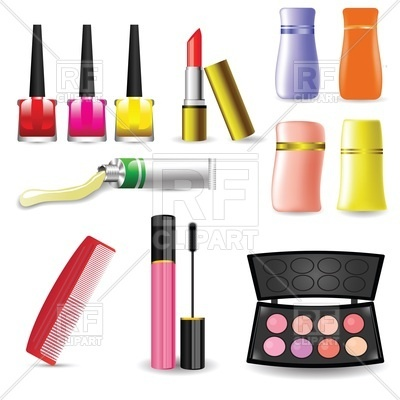400x400 Set Of Accessories For Make Up And Cosmetics Royalty Free Vector