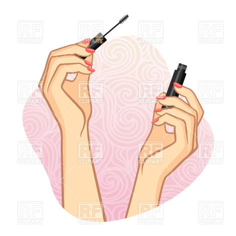 470x470 Woman Hands Using Cosmetic ( Mascara )