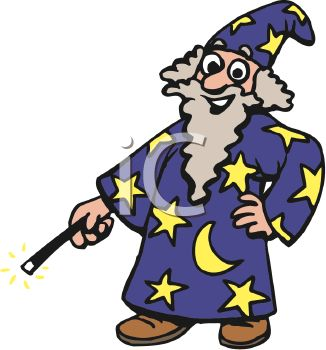 326x350 Royalty Free Clip Art Image Man Wearing A Wizard Halloween Costume