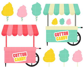 340x270 Cart Clipart Cotton Candy