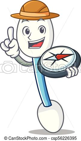270x470 Explorer Cotton Swab Mascot Cartoon Vector Illustration Eps