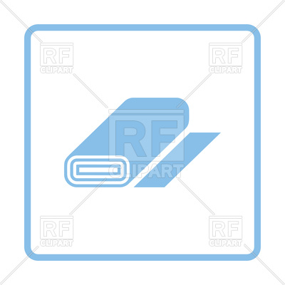 400x400 Blue Frame Design Of Tailor Cotton Roll Icon Royalty Free Vector