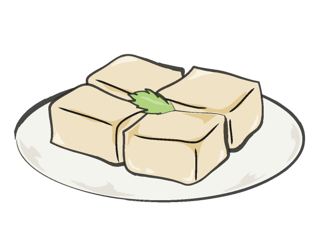 640x480 Tofu Food Illustration Free Clip Art Material