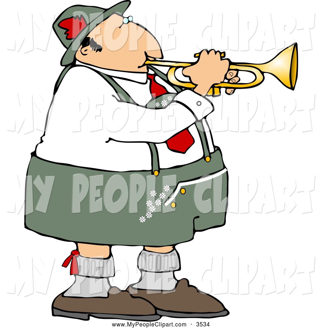 1024x1044 Clip Art Of A Goofy German Trumpet Player Wearing Cotton