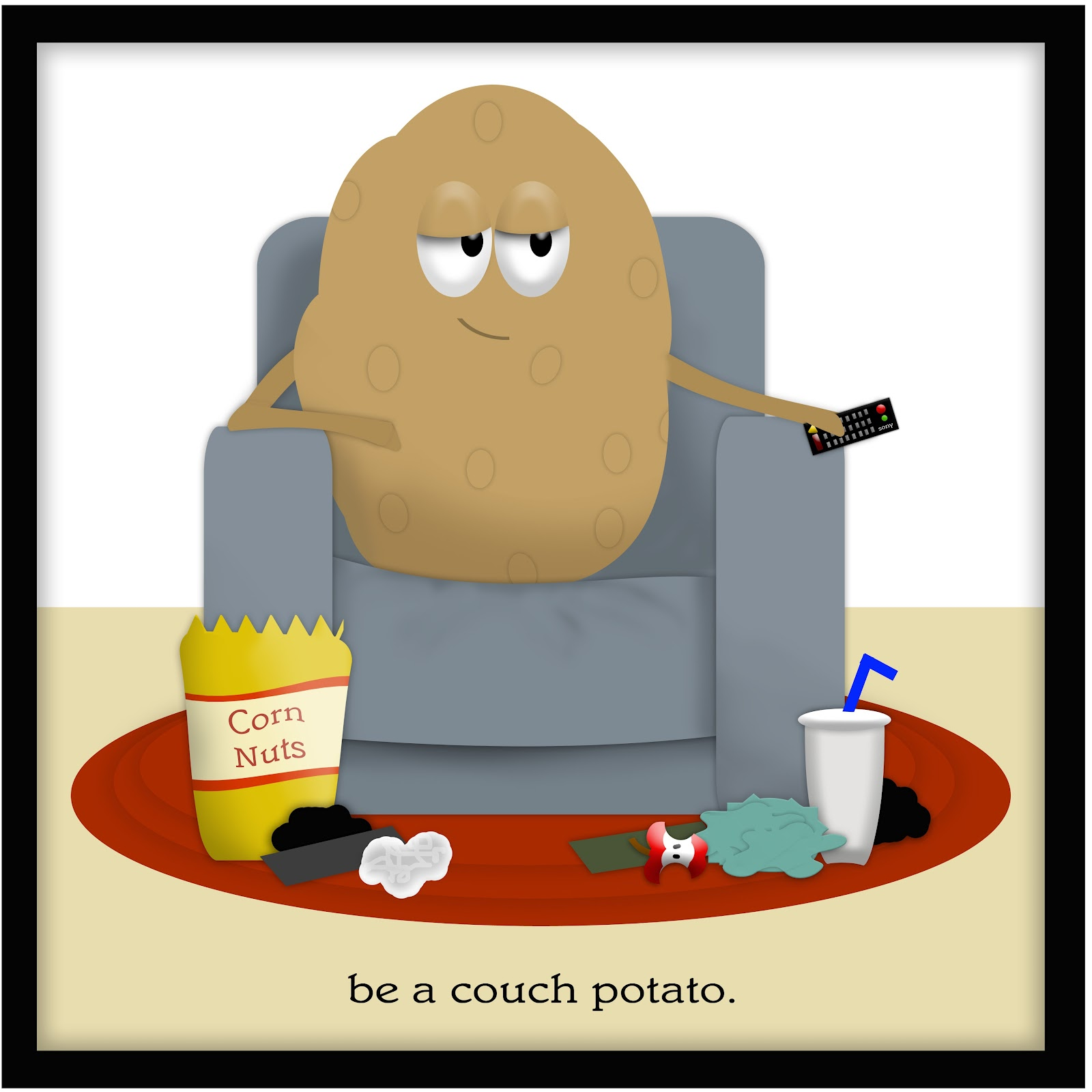1600x1600 Couch Potato Clipart