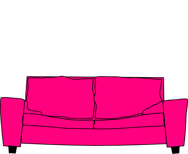 600x493 Hot Pink Couch Clip Art