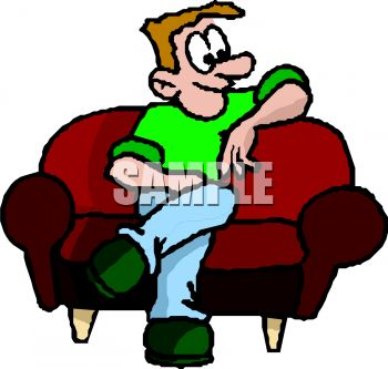 350x333 Man Waiting For His Date On A Sofa